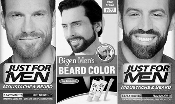 Средства для окрашивания бороды: фото